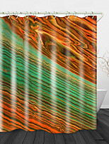 cheap -Beautiful Stone Pattern Printed Waterproof Fabric Shower Curtain Bathroom Home Decoration Covered Bathtub Curtain Lining Including hooks.