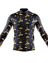 cheap -21Grams Men's Long Sleeve Cycling Jersey Spandex Polyester Black 3D Stars Funny Bike Top Mountain Bike MTB Road Bike Cycling Quick Dry Moisture Wicking Breathable Sports Clothing Apparel / Stretchy