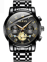 cheap -OLEVS 2021 New Men&#39s Three Eyes Quartz Sports Multifunction Fake Flywheel 30M Waterproof Luminous Watches Reloj Hombre 2859