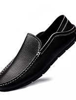 cheap -Men's Loafers & Slip-Ons Casual Classic British Daily Office & Career Nappa Leather Black Brown Fall Spring