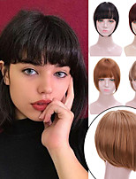 cheap -Black Brown Short Synthetic 3D Bangs Heat Resistant Hairpieces Women Natural Fake Hair Bangs Hair Clips For Extensions