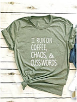 cheap -i run on coffee, chaos, and cuss words graphic tee