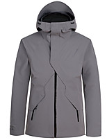 cheap -Men's Ski Jacket Snow Jacket Thermal Warm Waterproof Windproof Breathable Hooded Winter Down Jacket for Snowboarding Ski Mountain / Cotton