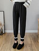 cheap -Women's Casual / Sporty Athletic Comfort Sweatpants Leisure Sports Weekend Pants Plain Full Length Pocket Elastic Waist Black Beige