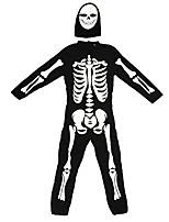 cheap -Skeleton / Skull Ghost Cosplay Costume Kid's Boys' Halloween Halloween Halloween Carnival Festival / Holiday Terylene Black Easy Carnival Costumes Skull / Leotard / Onesie