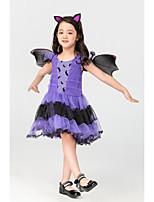 cheap -Vampire Movie / TV Theme Costumes Dress Kid's Girls' Halloween Halloween Halloween Carnival Children's Day Festival / Holiday Terylene Purple Easy Carnival Costumes Solid Color