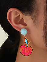 cheap -Women's Hoop Earrings Chandelier Fruit Artistic Elegant Rustic Classic Modern Earrings Jewelry Rainbow For Party Gift Daily Club Festival 1 Pair