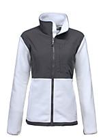 cheap -Women's Jacket Street Daily Fall Winter Regular Coat Zipper Stand Collar Regular Fit Warm Casual Jacket Long Sleeve Color Block Full Zip Pocket Fuchsia Gray Green