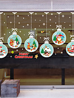 cheap -Christmas Cartoons Window Film Stickers Decoration Contemporary Geometric PVC Window Sticker Wall Stickers for Bedroom Living Room