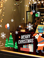 cheap -Christmas 3D Cartoon Wall Stickers Bedroom Kids Room Kindergarten Removable Pre-pasted PVC Home Decoration Wall Decal 1pc
