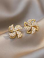 cheap -Women's Stud Earrings Drop Earrings Hoop Earrings Classic Flower Joy Fashion Classic Modern Korean Sweet Earrings Jewelry Gold For Party Street Gift Daily Holiday 1pc / Mismatch Earrings