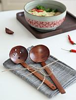 cheap -Japanese Style Ramen Noodle Spoon Hot Pot Spoon Bamboo Handle Restaurant Restaurant Hot Pot Restaurant Soup Spoon Colander Slotted Spoon