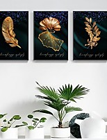 cheap -Wall Art Canvas Prints Floral/Feather Home Decoration Decor Rolled Canvas No Frame Unframed Unstretched