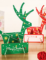 cheap -creative and exquisite luminous christmas greeting card christmas eve three-dimensional greeting card holiday greeting message card