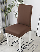 cheap -Stretch Kitchen Chair Cover Slipcover for Dinning Party Solid High Elasticity Four Seasons Universal Super Soft Fabric Retro Hot Sale