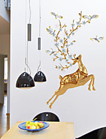cheap -bedroom warm nordic style creative room wall decorations wall stickers 3d stereo deer stickers