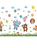 cheap -cartoon animal garden party cloud balloon elephant giraffe children's room home decoration wall sticker