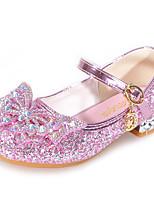 cheap -Girls' Heels Flower Girl Shoes Formal Shoes Princess Shoes School Shoes Rubber PU Walking Non Slip Wedding Dress Shoes Big Kids(7years +) Little Kids(4-7ys) Daily Party & Evening Walking Shoes