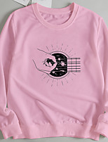 cheap -Women's Pullover Sweatshirt Graphic Print Casual Hot Stamping Casual Hoodies Sweatshirts  Loose Wine Red Blushing Pink Red