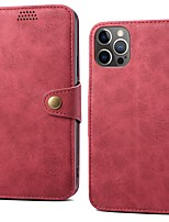 cheap -Phone Case For Apple Full Body Case iPhone 13 12 Pro Max 11 SE 2020 X XR XS Max 8 7 6 Card Holder Shockproof Dustproof Solid Colored PU Leather