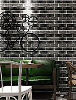 cheap -Wallpaper Wall Covering Sticker Film Peel and Stick Embossed Stripe Vinyl PVC Retro Red Gray Brick Pattern Home Deco 53*950CM