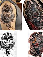 cheap -2 Pcs Emporary Tattoo Monkey King Waterproof Female Painted Body Art Lasting Male Forearm Monkey King Fake Tattoo Sticker