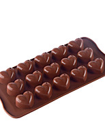 cheap -15 Grids Love Heart Shaped Silicone Mold Chocolate Candy Mold Cake Baking Mold Crystal Epoxy Mold Tool