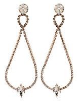 cheap -Women's Cubic Zirconia Drop Earrings Geometrical Alphabet Shape Stylish Earrings Jewelry Silver / Gold For Party Gift Prom Festival 1 Pair