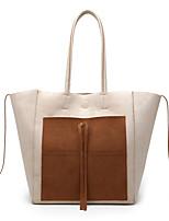 cheap -Women's Bags PU Leather Tote Tassel Shopping Office & Career Tote Handbags Blue Khaki Black