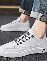 cheap -Men's Sneakers Vintage British Daily Leather Breathable Shock Absorbing Wear Proof White Beige Fall Spring