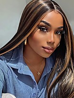 cheap -Synthetic Wig Natural Straight Middle Part Wig Long Brown Black Synthetic Hair Women's Cosplay Soft Party Black Brown