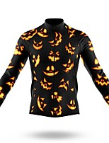 cheap -21Grams Men's Long Sleeve Cycling Jersey Spandex Polyester Black 3D Funny Bike Top Mountain Bike MTB Road Bike Cycling Quick Dry Moisture Wicking Breathable Sports Clothing Apparel / Stretchy
