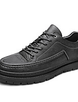 cheap -Men's Sneakers Lace up Printed Oxfords Business Casual Classic Daily Party & Evening PU Non-slipping Shock Absorbing Wear Proof Gray Black Fall Winter