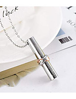 cheap -Pendant Necklace Women's Geometrical Stainless Steel Precious Dainty Simple Cute Cool Wedding Rose Gold Silver 45+5 cm Necklace Jewelry for Daily Tube