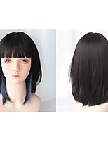 cheap -Short Synthetic Medium and Long Hair Female Hanging Ear Dyeing Lolita Cosplay Wigs for Girls Bob Heat Resistant Fiber Wig