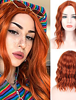 cheap -halloweencostumes Orange Wig Short Natural Wave Synthetic Hair Blue Black Bob Wigs For Women Colored Cosplay Lolita Wig Heat Resistant Hair