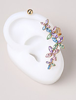 cheap -Women's Stud Earrings Clip on Earring Tropical Petal Unique Design Fashion Vintage Modern French Earrings Jewelry Rainbow For Party Gift Daily Prom Club 2pcs