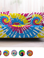 cheap -3D Tie Dye Printed Sofa Cover Stretch Slipcovers Soft Durable Couch Cover 1 Piece Spandex Fabric Washable Furniture Protector Armchair Loveseat