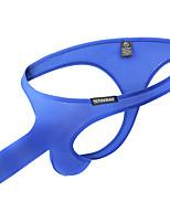 cheap -Men's Basic Fashion Pure Color Sexy Panties G-string Underwear Micro-elastic Low Waist Blue M