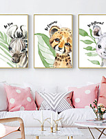 cheap -Wall Art Canvas Prints Painting Artwork Picture Nursery Animal Cartoon Home Decoration Decor Rolled Canvas No Frame Unframed Unstretched