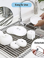cheap -Foldable Dish Drying Rack Drainer Over Sink Organizer Tray Household Bathroom Gadgets Tool Kitchen Accessories