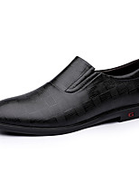 cheap -Men's Loafers & Slip-Ons Business Casual Daily Nappa Leather Black Brown Fall Spring