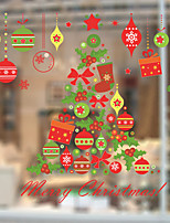 cheap -Christmas Gift Wall Stickers Decorative Wall Stickers PVC Home Decoration Wall Decal Wall Decoration Glass Window Decoration Removable