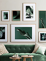 cheap -Wall Art Canvas Prints Painting Artwork Picture Floral Botanical Green Home Decoration Dcor Rolled Canvas No Frame Unframed Unstretched