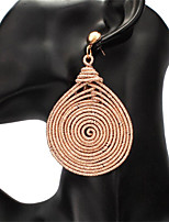 cheap -Women's Drop Earrings Geometrical Donuts Stylish Earrings Jewelry Rose Gold / Silver / Gold For Party Street Gift Festival 1 Pair