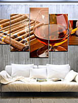 cheap -Wall Art Canvas Prints Glas Wein Home Decoration Decor Rolled Canvas No Frame Unframed Unstretched