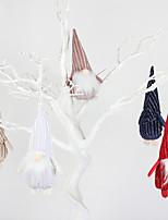 cheap -2pcs Christmas decorations pointed hat faceless doll pendant creative elderly dwarf Rudolph doll Pendant