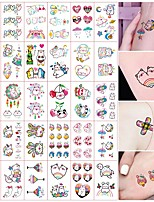 cheap -30 Sheets Tattoo Stickers Temporary Waterproof Cute Stickers And Decals For Women Kids Temporary Tattoos Colorful Anime Body Art