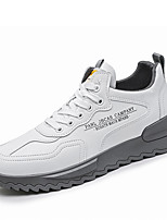 cheap -Men's Sneakers Casual Classic Party & Evening Faux Leather Breathable Gray Black Fall