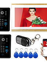 cheap -Wired/Wifi 10 inch Touch Screen Monitor video doorphone Tuya Smart Intercom Doorbell wiht 1080P Camera RFID and Password unlock Motion Detector Record Function